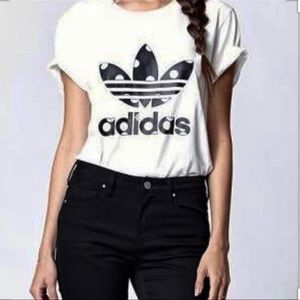 Adidas Women Big Dot Logo T Shirt